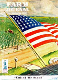 1942 Farm Journal Magazine Cover ~ John Clymer Patriotic U.S. Flag