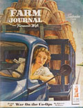 1944 Farm Journal Magazine Cover ~ Woman Drives Fruit Truck