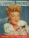 1944 Modern Screen Magazine Cover ~ Betty Hutton