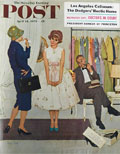 1959 Saturday Evening Post Cover ~ Shopping for a Prom Dress