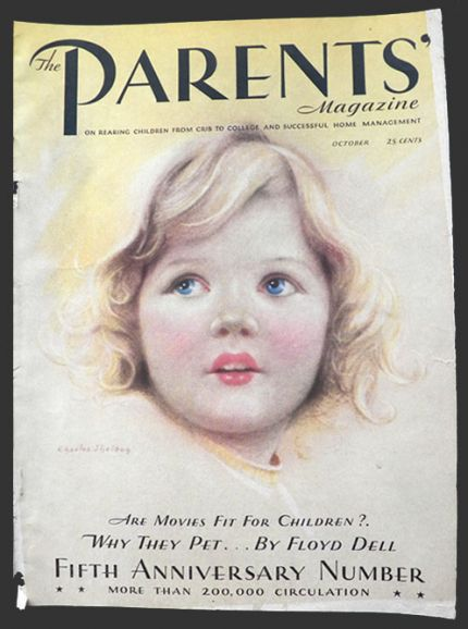 1931 Parents Magazine Cover ~ Beautiful Blonde Child