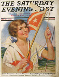 1928 Saturday Evening Post Cover ~ Sailing Woman, Bradshaw Crandell