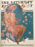 1928 Saturday Evening Post Cover ~ Woman on Swing