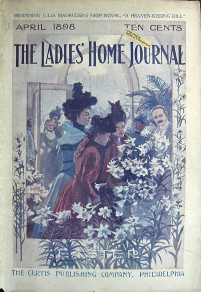 6abf73759 1898 Ladies  Home Journal Cover ~ Easter Lilies