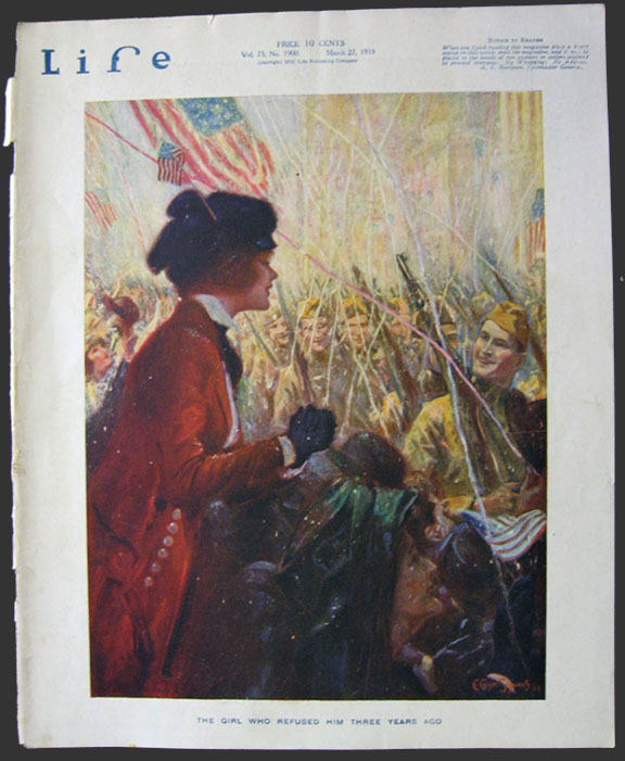 1919 Life (Humor) Magazine Cover ~ Clyde Squires, WWI Celebration