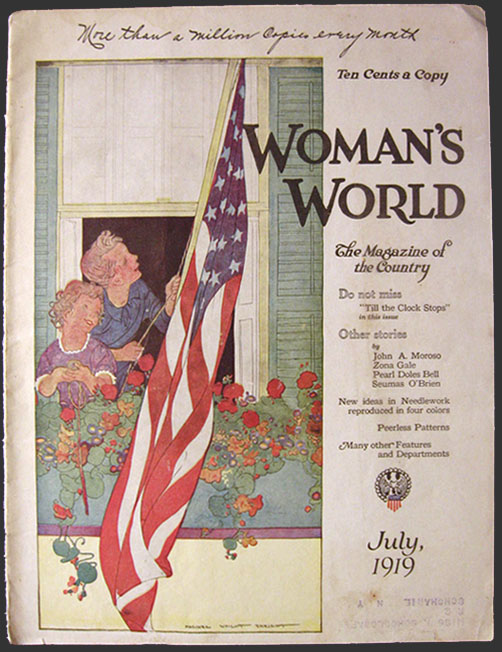This is the original cover of Woman's World Magazine dated July, 1919