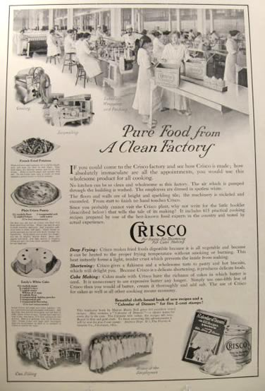 1915 Crisco Ad ~ Factory Interior Photo