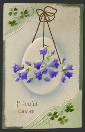 Hanging Egg Joyful Easter Postcard