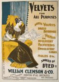 1896 William Clemson Dye & Print Works Ad ~ Manchester UK