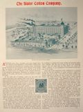 1896 Slater Cotton Company Ad/Article ~ Pawtucket, RI