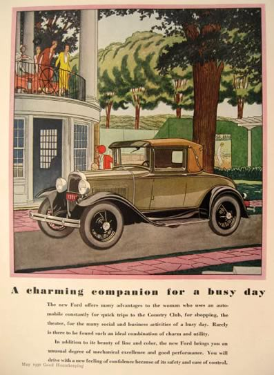 1930 Ford Sport Coupe Ad ~ Charming Companion