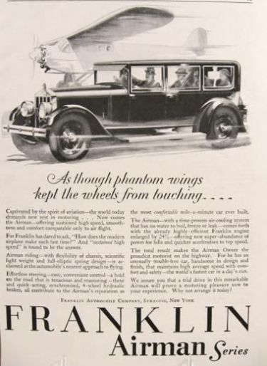 1928 Franklin Airman Car Ad