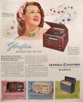 1946 GE Radio Phonograph & Clock Radio Ad ~ Reproducer