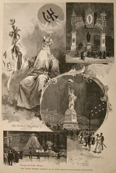 1891 Veiled Prophet Pageant, St. Louis Antique Print & Article