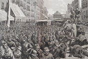 1886 NY Railroad Strike Antique Print & Article ~ Harper's Weekly