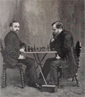 1886 Zukertort & Steinitz Chess Match ~ Antique Print & Article
