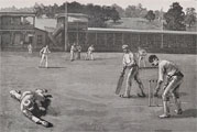 1886 Cricket Match at Nicetown, PA ~ Antique Print & Article