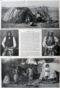 1886 Geronimo's Apache Chiefs Antique Print & Article ~ Harper's Weekly