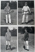 1886 Leading Tennis Players ~ Antique Print