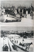 1886 Orange, NJ Toboggan Run ~ Antique Print & Article