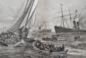 1886 S.S. Oregon Shipwreck Antique Print/Article ~ Harper's Weekly