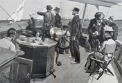 1886 Watching America's Cup ~ Antique Print & Article