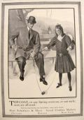 1908 Hart, Schaffner, Marx Men's Fashion Ad ~ Child with Antique Toy