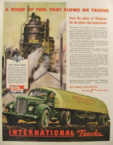 1944 International Harvester Truck Ad ~ Duncan, Ok