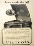 1919 Victor Victrola Ad ~ Look Inside the Lid