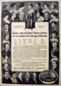 1919 Victor Victrola Ad ~ Photos of Singing Stars