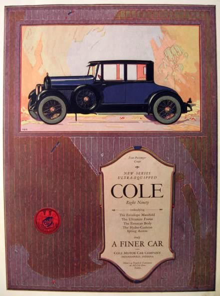 1922 Cole Eight Ninety Automobile Ad