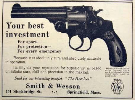 1912 Smith Wesson Revolver Ad