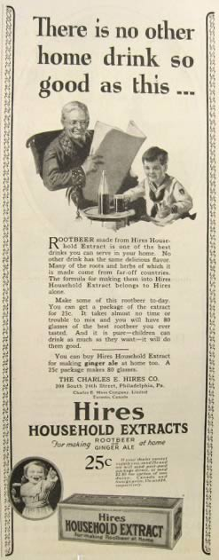 1924 Hires Root Beer Extract Ad ~ Boy with Grandpa