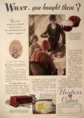 1928 Hostess Cakes Ad ~ Chocolate Cupcakes
