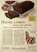 1930 Hostess Cakes Ad ~ Devil's Food Loaf
