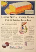 1929 Hostess Cakes Ad ~ Zesty Lemon Loaf