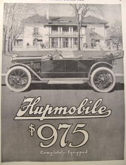 1912 Hupmobile Ad ~ $975 Completely Equipped