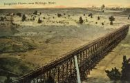 Irrigation Flume Near Billings, MT Postcard