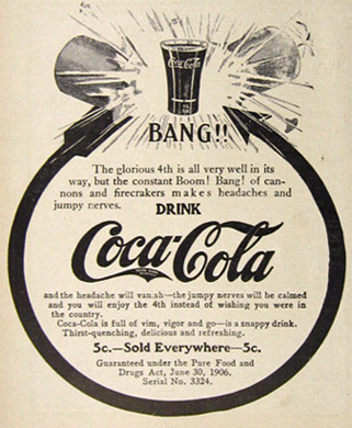 1907 Coca Cola Coke Ad ~ 4th of July