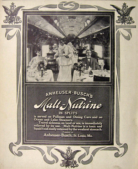 1907 Malt Nutrine Ad ~ In Splits