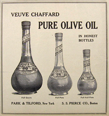 1907 Veuve Chaffard Olive Oil Ad ~ In Honest Bottles