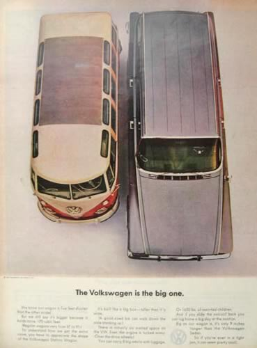 1963 Volkswagen VW Bus Ad ~ The Big One