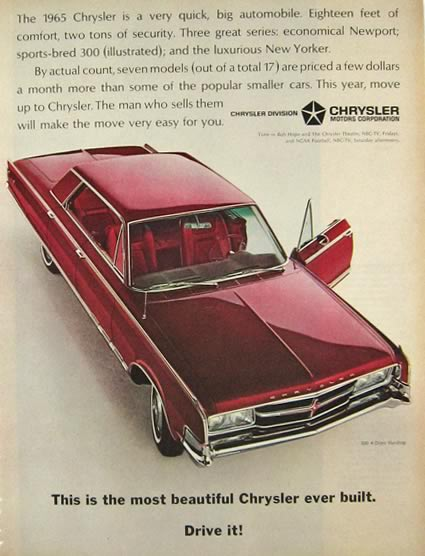1965 Chrysler 300 4-Door Hardtop Ad