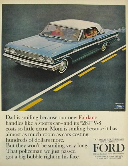 1964 Ford Fairlane Sports Coupe Ad