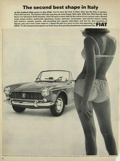1964 Fiat Sports Convertible Ad