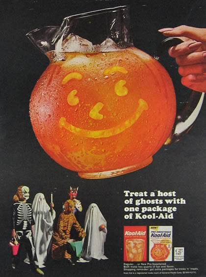 Vintage Halloween Ads.1964 Kool Aid Ad Halloween Vintage Beverage Ads Other