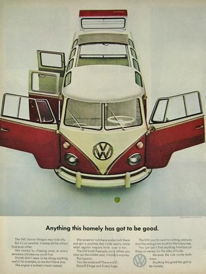 1964 Volkswagen VW Bus Ad ~ Anything This Homely