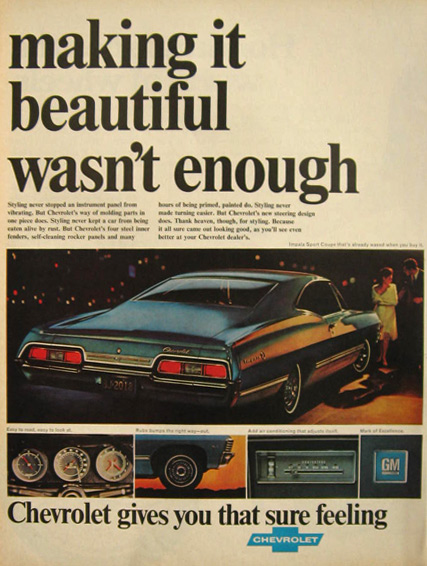 1967 Chevy Impala Sport Coupe Ad