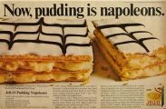 1967 Jello Pudding Ad ~ Recipe for Napoleons