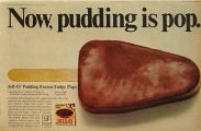 1967 Jello Pudding Ad ~ Frozen Fudge Pop Recipe
